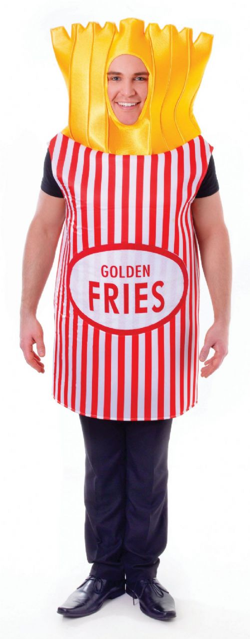 Adults French Fries Costume France National Dress Fancy Dress Outfit